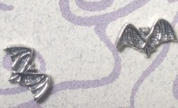 Tiny Bat Silver Earrings - Product Image