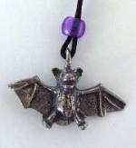 Classic Pewter Bat Pendant - Product Image