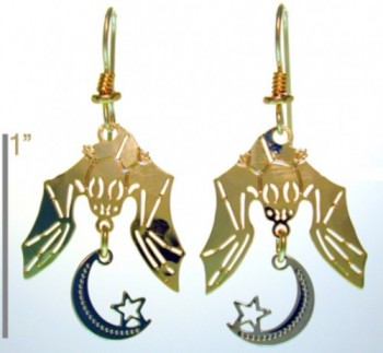 Bats With Crescent Moon and Star - Product Image