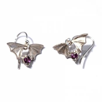 Bridge Bat Earrings - Product Image