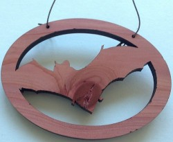 Cedar Bat Ornament