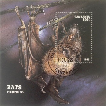 Cancelled Bat Stamp Sheet - Product Image