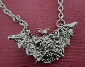Costume Jewelry Bat Pendant or Pin - Product Image