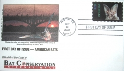First Day Cover of U.S. Bat Stamps - Product Image