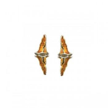 Fruit Bat Vertical Post Earrings by Bamboo