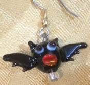 Glass Bat Earrings And Pendants - Product Image