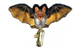 Glass Clip-On Bat Ornament - Product Image
