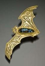 Gold Kit Carson Original Bat Pin - Product Image