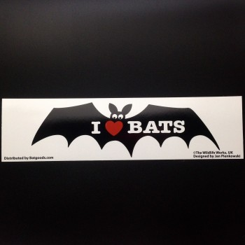 I Love Bats Sticker - Product Image