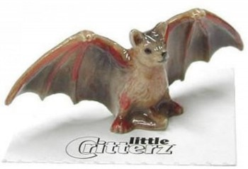 Miniature Brown Bat Figure - Product Image