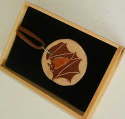 Costa Rican Ceramic Bat Jewelry - Product Image