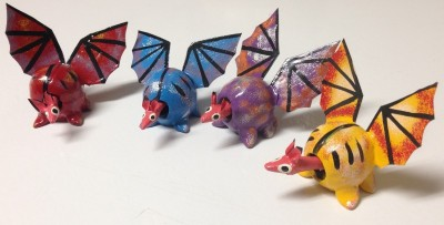 Oaxacan Bobble Head Bats