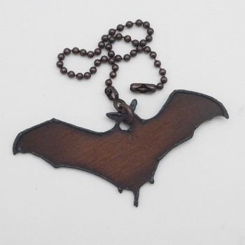Rustic Bat Fan Pull