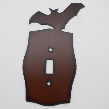 Rustic Bat Single Switch Cover