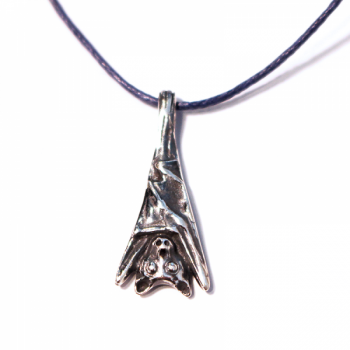 Silver Fruit Bat Pendant by Gustavo Vela Turcott - Product Image