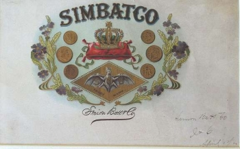 Simon Batt & Co. Cigar Label - Product Image