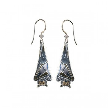 Sleeping Bat Earrings by Bamboo - Product Image
