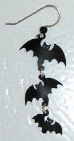 Triple Bat Silhouette Earrings - Product Image