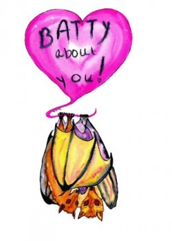 Watercolor Batty Heart Card - Product Image
