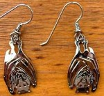 Wild Bryde Fruit Bat Earrings - Product Image