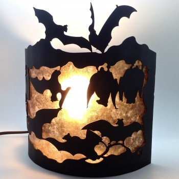 Bats Backlight Design Wall Sconce  SHIPPING TO BE QUOTED BASED ON LOCATION - Product Image