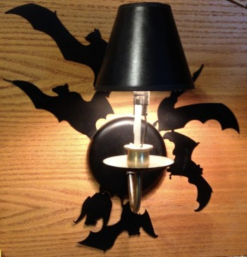 Bats Flush Design Wall Sconce  SHIPPING TO BE QUOTED BASED ON LOCATION - Product Image
