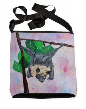 Fox Bat Large Cross Body Bag - Product Image