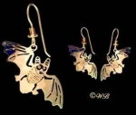 Flying Baby Bat Earrings - Product Image