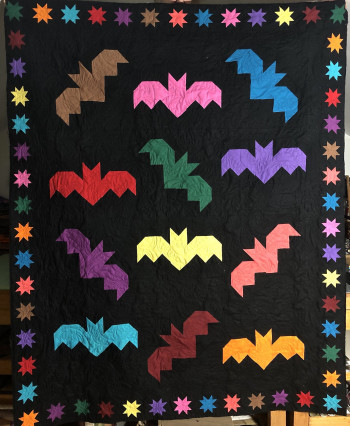 Amish Bat Scramble  Quilt 73 by 59- SOLD - Product Image