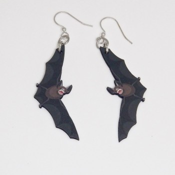 Painted Bamboo Bats Earrings - Product Image