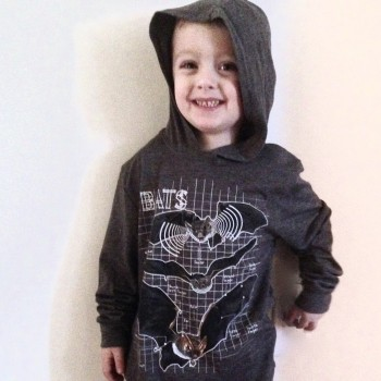 Bat Anatomy Youth Long Sleeve Hooded Tee - Product Image