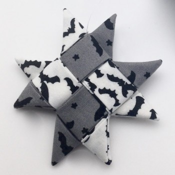 Bat Fabric Star Ornament - Product Image