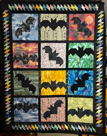 Bat Scramble Quilt 70 X 63 - Product Image