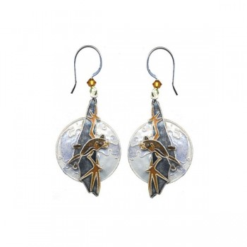 Bat and Moon Earrings by Bamboo - Product Image