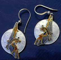 Bat in the Moonlight Earrings - Product Image
