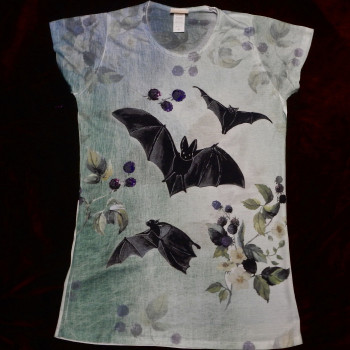 Bats And Blackberries Ladies Shirt or Socks - Product Image