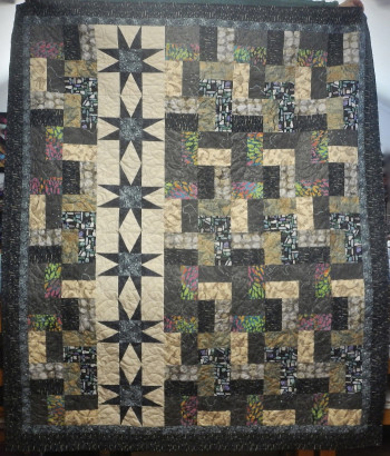 Bats On The Rocks Quilt (81 by 69 Inches) SOLD - Product Image