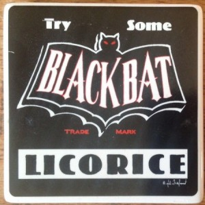Black Bat Licorice Magnet - Product Image
