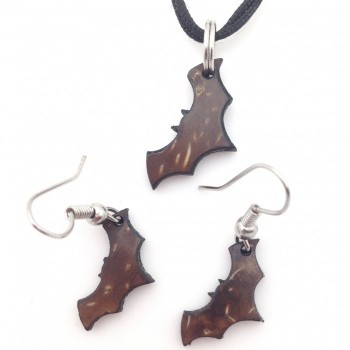 Coconut Bats Earrings or Pendant - Product Image