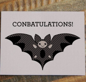 Conbatulations Individual Note Card - Product Image