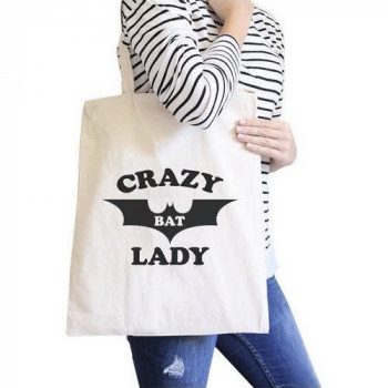 Crazy Bat Lady Canvas Bag - Product Image