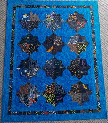 "Double Square Bats  47"" by 58"" Quilt - Product Image"