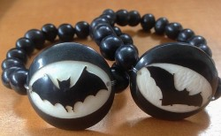 Ecuadorean Tagua Nut and Asai Seed Bat Bracelets - Product Image