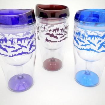 Flying Bats Wine Travel Tumbler - Product Image