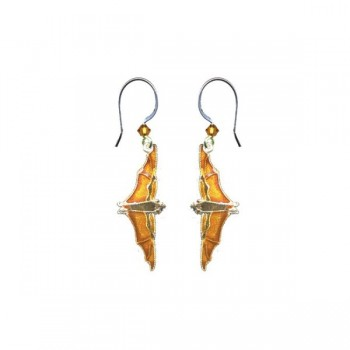 Fruit Bat Vertical Earrings by Bamboo
