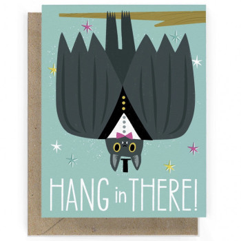 Hang In There Bat Individual Note Card - Product Image