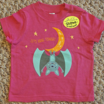 Hanging Moon Bat Infant Tee Shirt (Pink) - Product Image