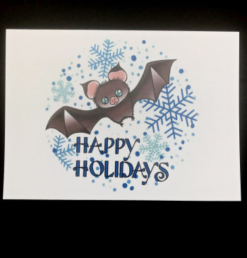 Happy Holidays Bat Cards - Product Image