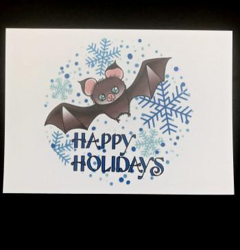 Happy Holidays Bat Cards - Product Image