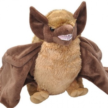 Huggable Plush Brown Bat - Product Image